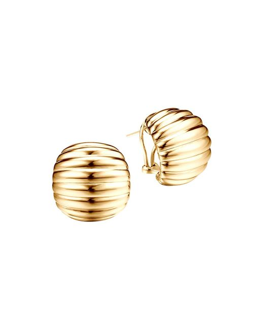 John Hardy | Metallic Bedeg 18k Gold Buddha Belly Earrings | Lyst