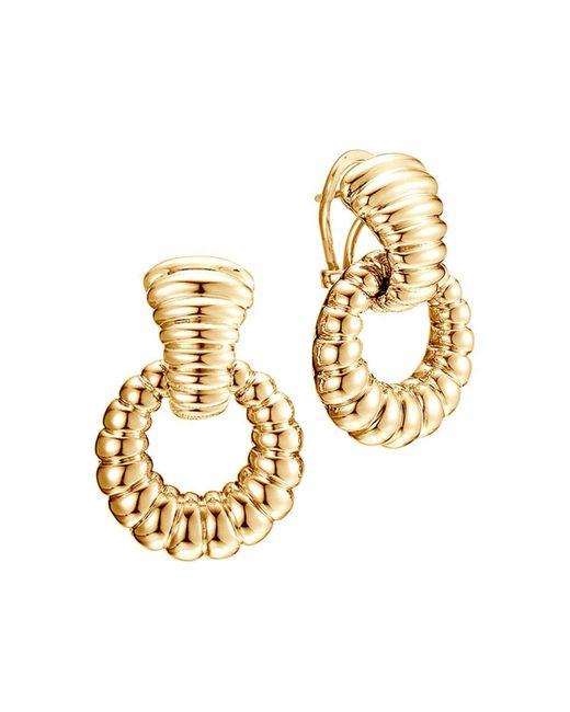 John Hardy   Metallic Bedeg 18k Gold Door Knocker Earrings   Lyst