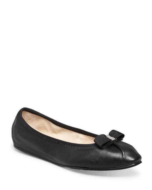 Ferragamo - Black My Joy Ballet Flats - Lyst