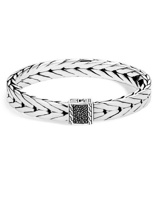 John Hardy - Metallic Men's Sterling Silver Modern Chain Medium Bracelet With Black Sapphire, 9mm for Men - Lyst