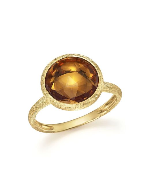 Marco Bicego | Metallic 18k Yellow Gold Jaipur Ring With Citrine | Lyst
