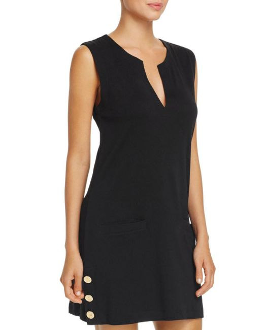 Ralph Lauren - Black Lauren Button Tunic Swim Cover-up - Lyst