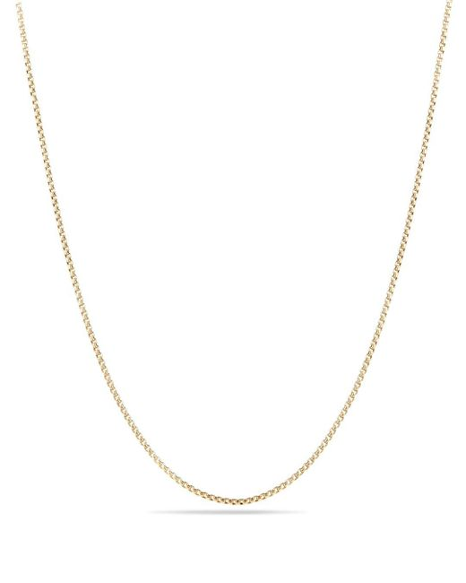 David Yurman - Metallic Box Chain Necklace In 18k Yellow Gold - Lyst