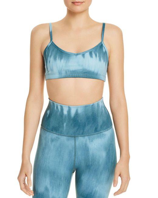Beyond Yoga Blue Olympus Tie - Dye Sports Bra
