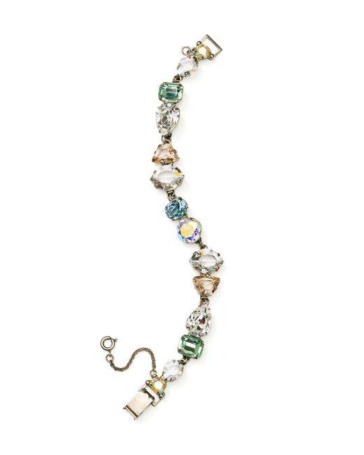 Sorrelli | Metallic Rainbow Swarovski Crystal Bracelet | Lyst