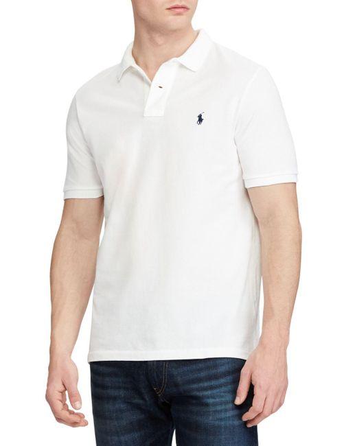 Polo Ralph Lauren - White Classic Fit Mesh Polo Shirt for Men - Lyst