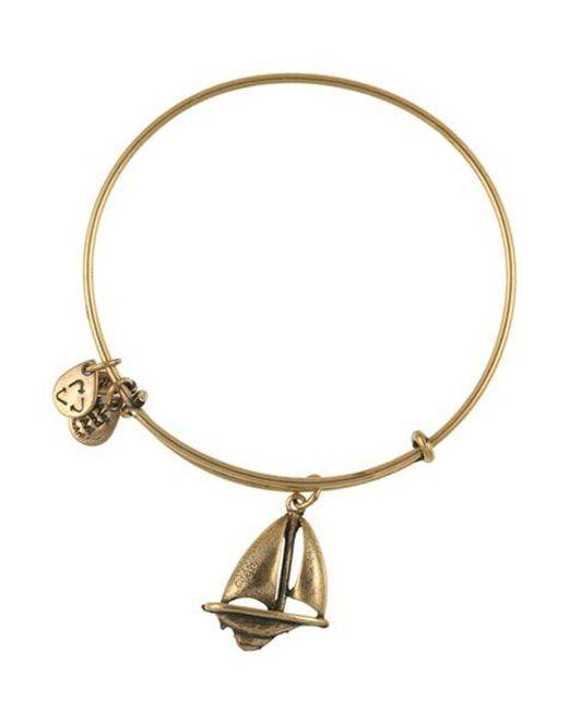 ALEX AND ANI | Metallic Sailboat Bangle | Lyst