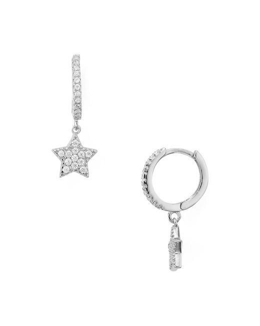 Aqua | Metallic Star Hoop Earrings | Lyst