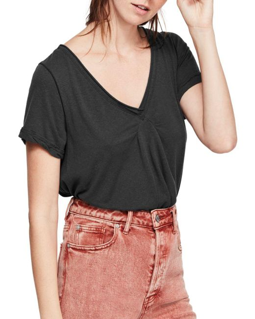 Free People - Black All You Need Tee - Lyst
