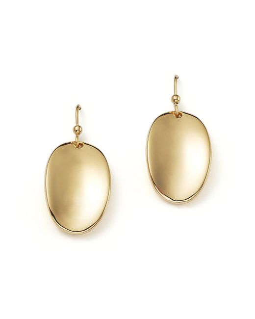 Roberto Coin - 18k Yellow Gold Oval Drop Earrings - Lyst