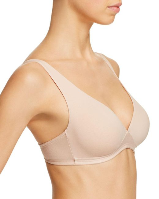 767ae4823496ef ... Hanro - Natural Cotton Sensation Soft Cup Bra - Lyst