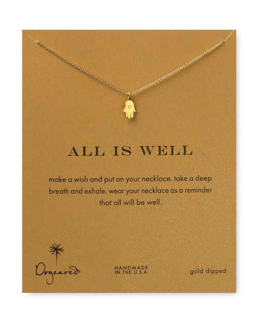 Dogeared   Metallic Gold Plated Best Friend Infinity Necklace   Lyst
