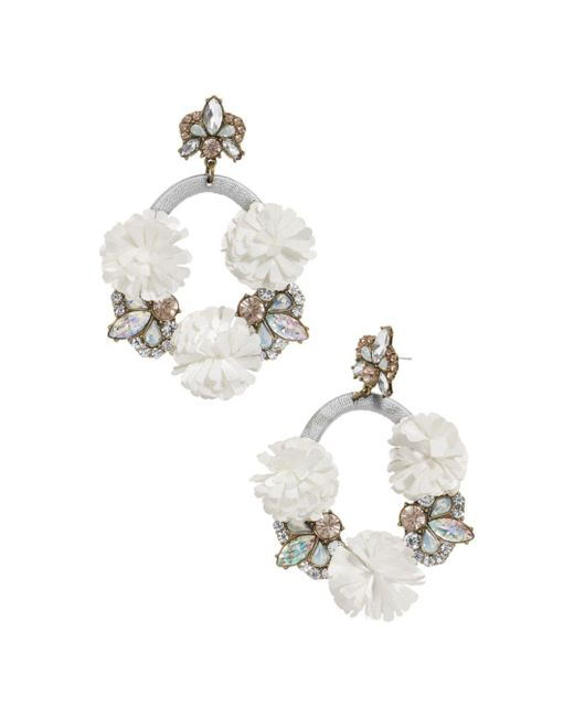 BaubleBar - Gray Ice Lily Loop Drop Earrings - Lyst