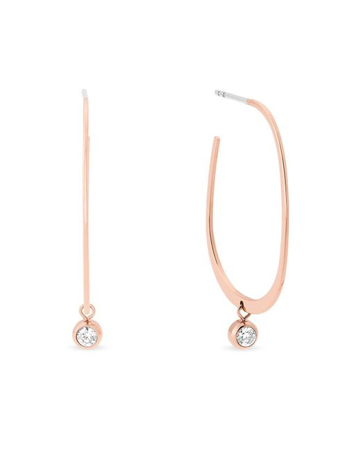 Michael Kors | Metallic Hoop Drop Earrings | Lyst