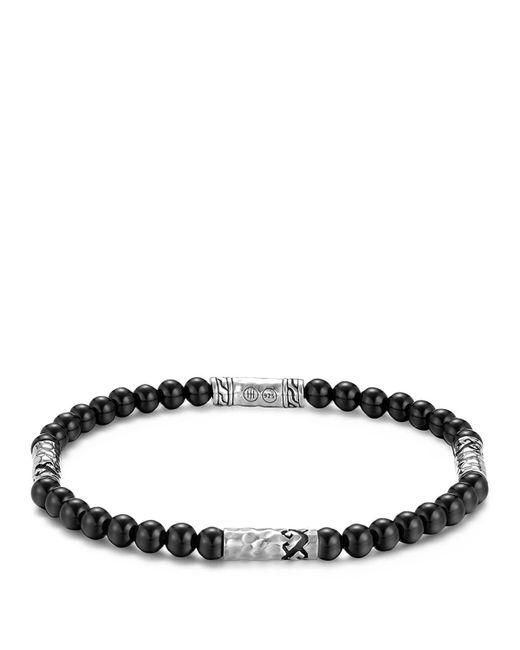John Hardy   Men's Sterling Silver Palu Multi-station Bracelet With Black Onyx for Men   Lyst