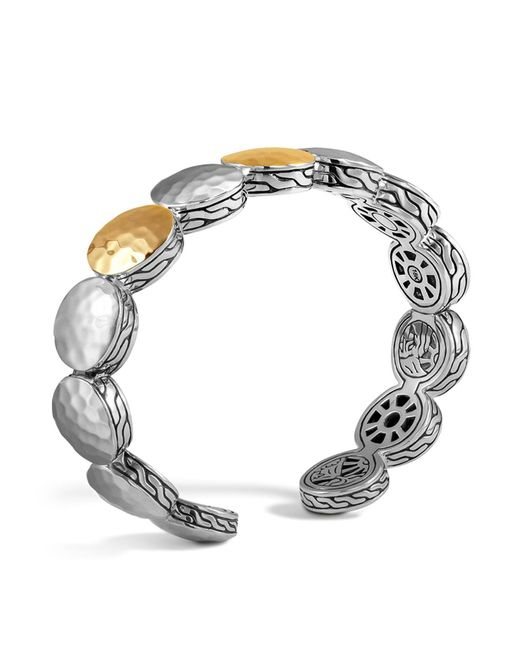 John Hardy | Metallic Sterling Silver And 18k Bonded Gold Palu Three Station Flex Cuff | Lyst