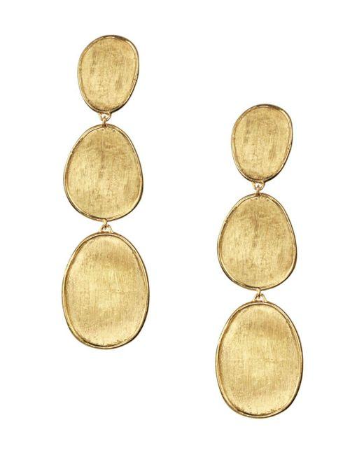 Marco Bicego - Metallic 18k Yellow Gold Lunaria Three Tiered Drop Earrings - Lyst