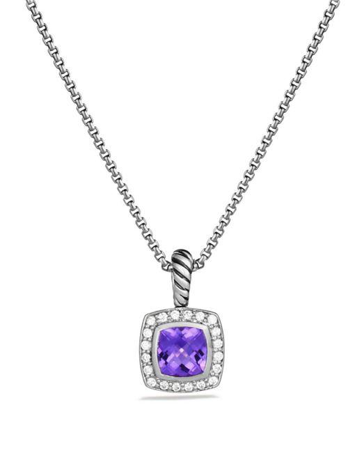 David Yurman - Metallic Petite Albion Pendant With Amethyst And Diamonds On Chain - Lyst