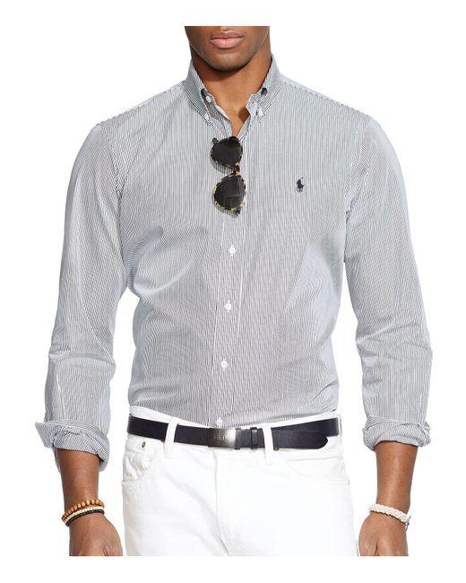 Polo Ralph Lauren   Black Hairline-striped Poplin Button-down Shirt - Classic Fit for Men   Lyst