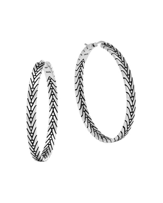 John Hardy - Metallic Sterling Silver Modern Chain Hoop Earrings - Lyst