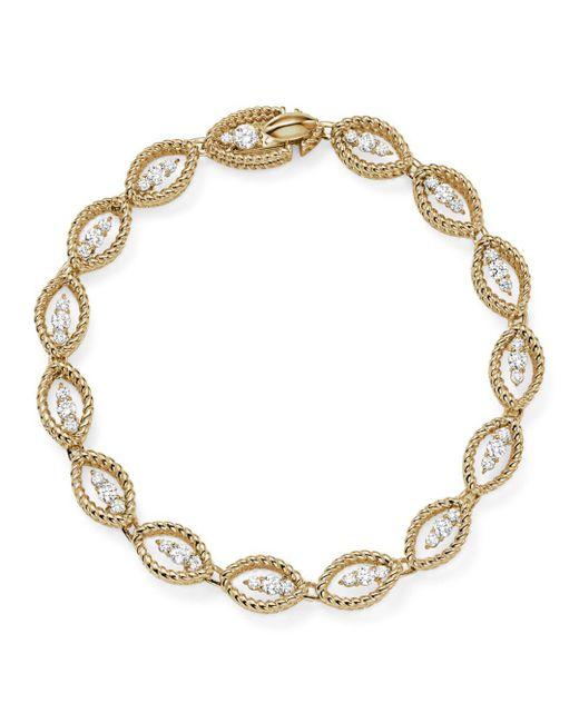 Roberto Coin - Metallic 18k White And Yellow Gold New Barocco Diamond Bracelet - Lyst