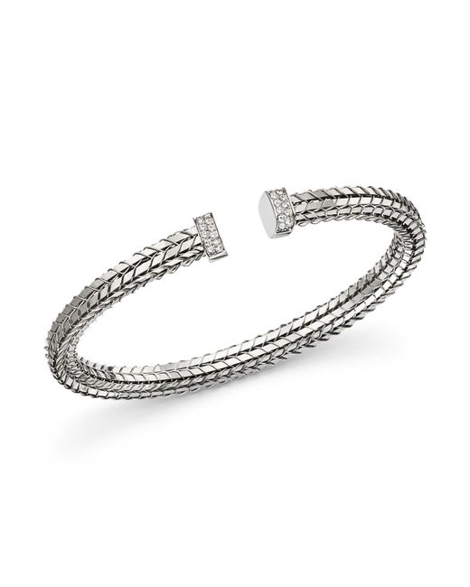 Roberto Coin | 18k White Gold Diamond Bracelet | Lyst