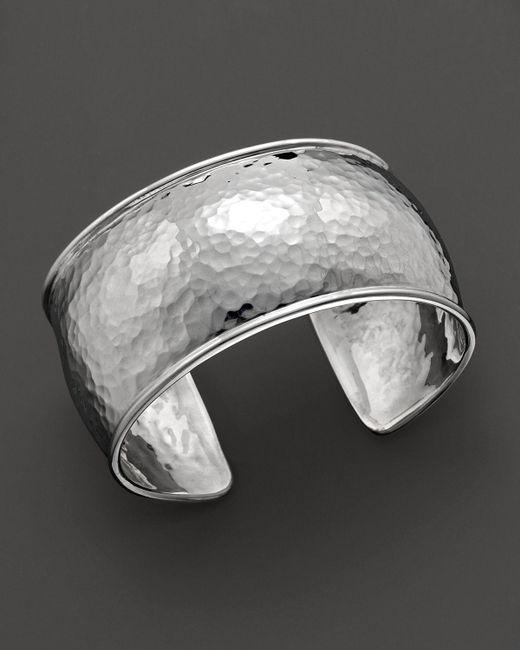 Ippolita | Metallic Sterling Silver Hammered Flat Cuff | Lyst