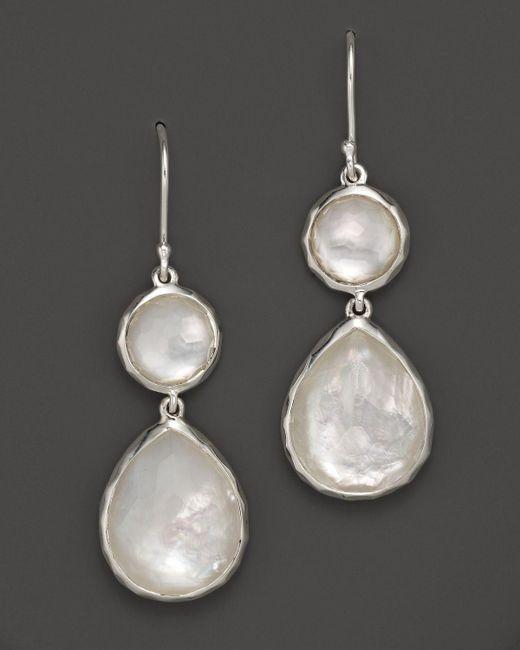 Ippolita | Multicolor Sterling Silver Wonderland Teardrop Snowman Doublet Earrings In Mother-of-pearl | Lyst
