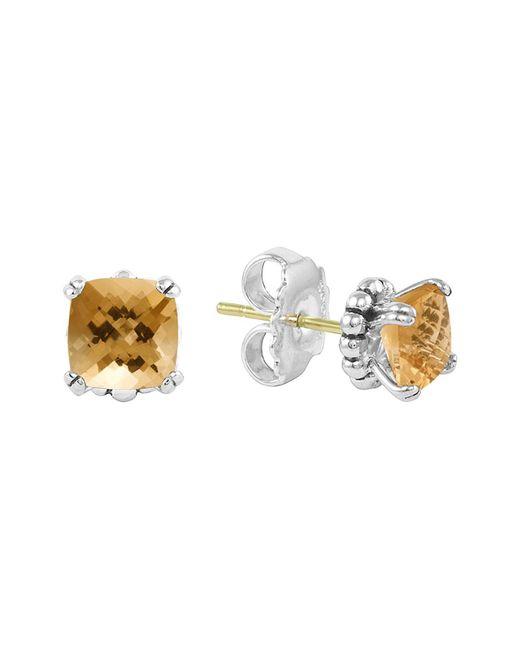 Lagos | Metallic Sterling Silver Prism Citrine Stud Earrings | Lyst