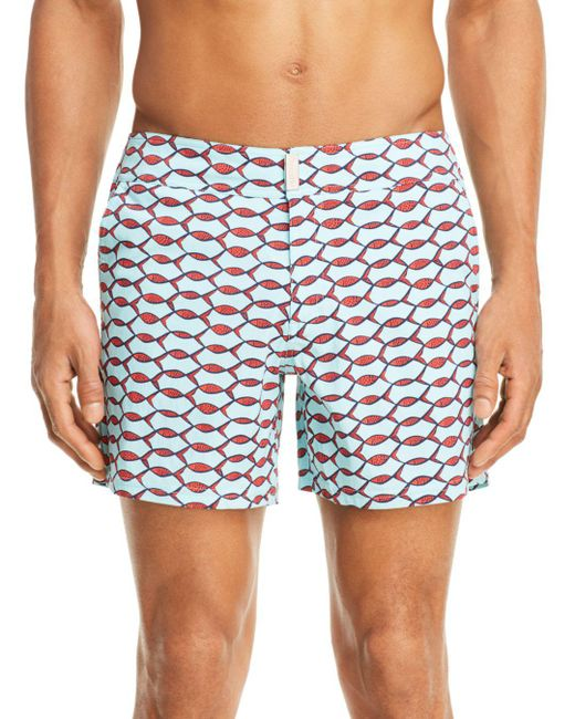 Vilebrequin - Blue Merise Fish Swim Trunks for Men - Lyst