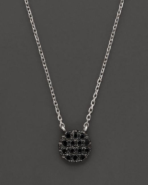 Dana Rebecca | Black Diamond Lauren Joy Mini Necklace In 14k Black Rhodium On 14k White Gold Chain, 16"