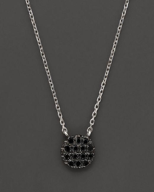 "Dana Rebecca | Black Diamond Lauren Joy Mini Necklace In 14k Black Rhodium On 14k White Gold Chain, 16"" | Lyst"