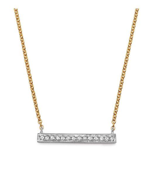 Dana Rebecca | Metallic 14k White & Yellow Gold Sylvie Rose Medium Bar Necklace With Diamonds | Lyst