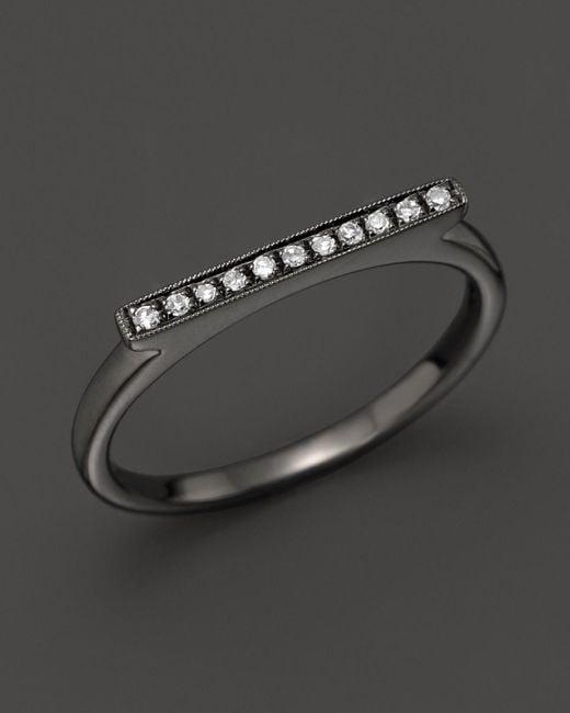 Dana Rebecca   Diamond Sylvie Rose Ring In 14k Black Rhodium   Lyst