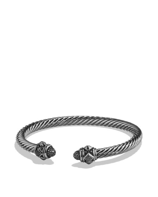 David Yurman - Metallic Renaissance Bracelet With Black Diamonds In Silver - Lyst