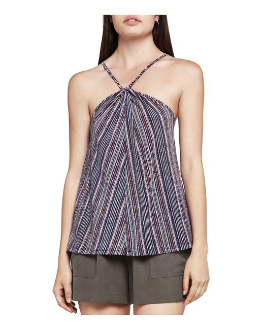 BCBGeneration | Blue Striped Halter-style Camisole | Lyst