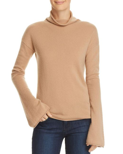 Theory - Natural Bell-sleeve Cashmere Sweater - Lyst