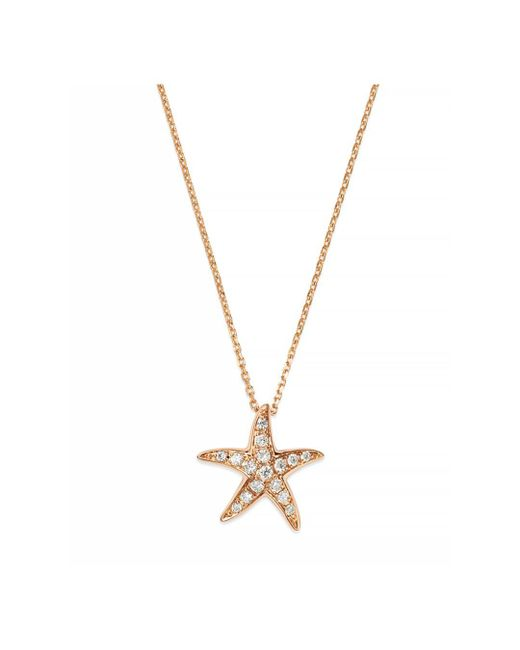 Bloomingdale's - Pink Diamond Starfish Pendant Necklace In 14k Rose Gold - Lyst