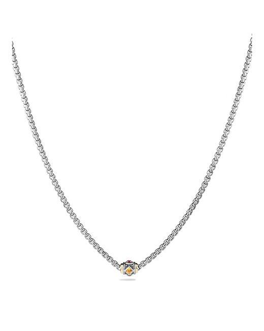 David Yurman - Metallic Rhodalite Garnet And 18k Gold - Lyst