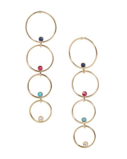 BaubleBar - Metallic Lucienne Multi-hoop Drop Earrings - Lyst