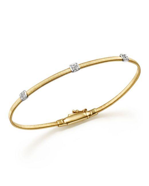 Marco Bicego - Metallic Masai 18k Yellow Gold Small Three Station Diamond Bracelet - Lyst