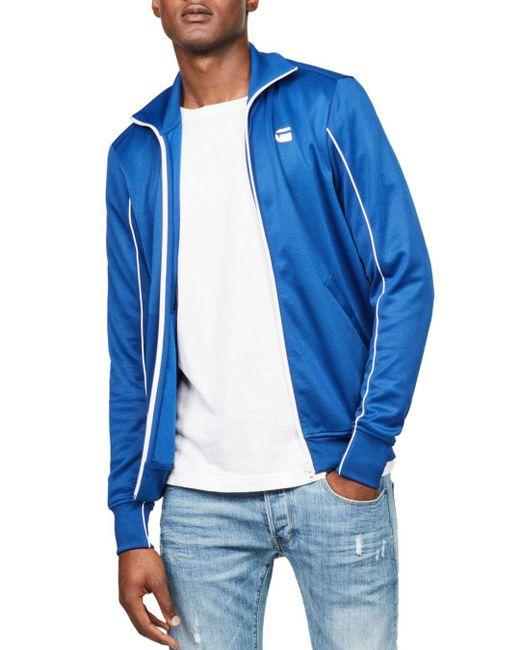 G-Star RAW - Blue Lanc Slim Fit Track Jacket for Men - Lyst