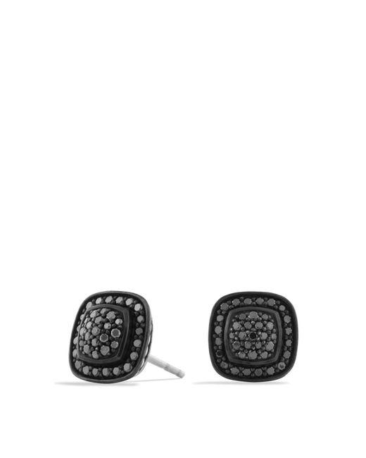 David Yurman - Petite Albion Earrings With Black Diamonds - Lyst