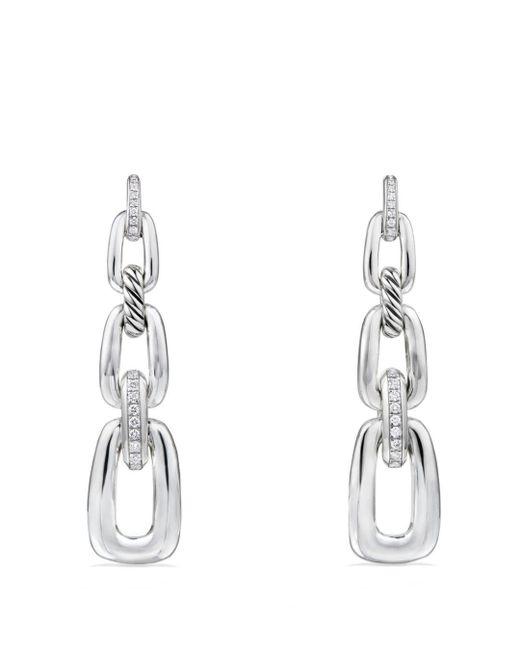 David Yurman - Metallic Diamonds & Sterling Silver Convertible Chain Drop Earrings - Lyst