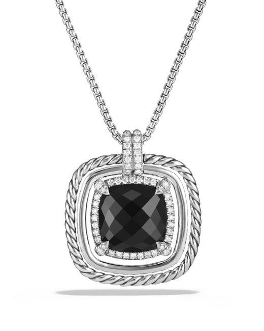 David Yurman - Metallic Châtelaine Pavé Bezel Necklace With Black Onyx And Diamonds - Lyst