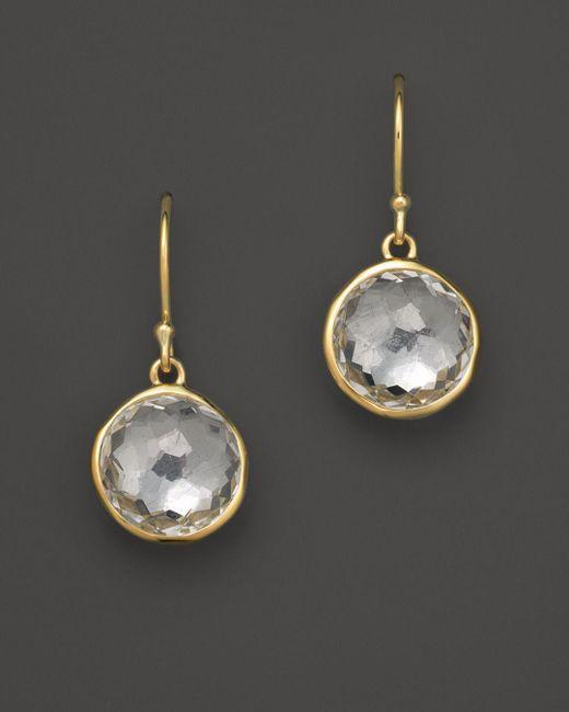 Ippolita - Metallic 18k Yellow Gold Lollipop Earrings In Clear Quartz - Lyst