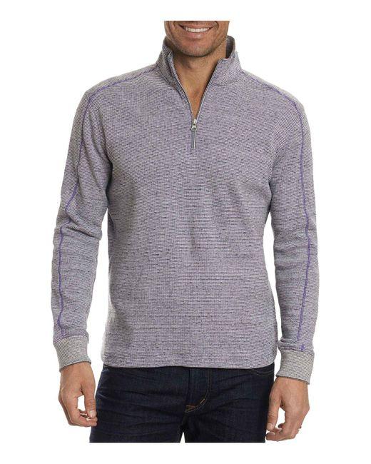 Robert Graham | Gray Easy Rider Quarter-zip Pullover for Men | Lyst
