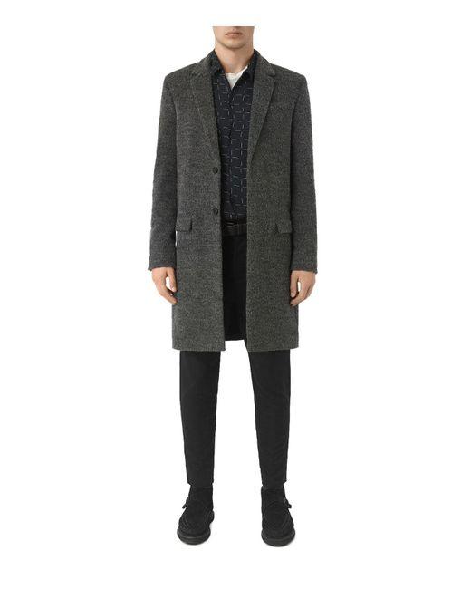 AllSaints - Gray Abel Coat for Men - Lyst