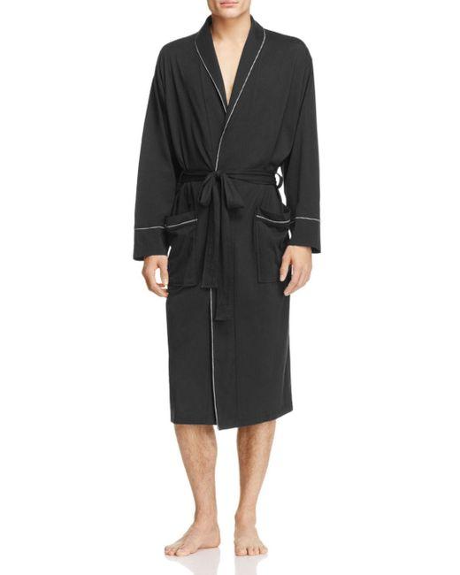 Daniel Buchler - Black Peruvian Pima Cotton Robe for Men - Lyst
