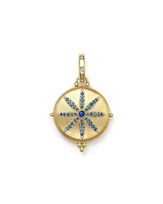 Temple St. Clair - Metallic 18k Gold Sorcerer Locket With Sapphire And Diamonds - Lyst